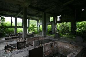 松尾鉱山・ボイラー室
