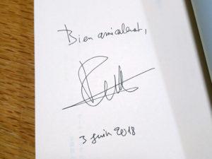 ポール・アルテのサイン