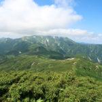 稜線と伊東岳