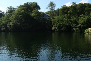 池と大鳥小屋