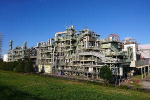 岩淵水門近くの工場